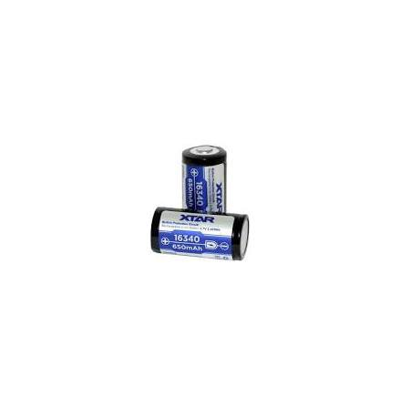 Xtar Batteri 16340 3,7v 650mAh