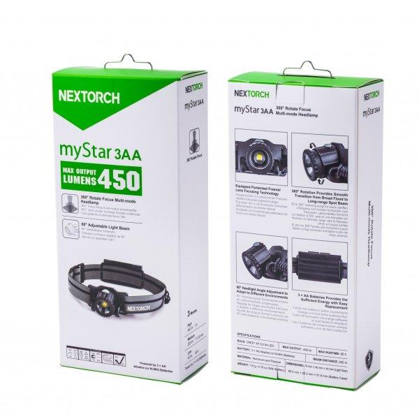 Nextorch pannlampa myStar 3AA