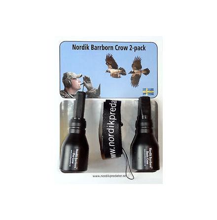 Nordik Barrborn Crow, 2-Pack, Lockpipa för Kråka